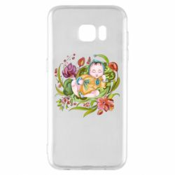 Чехол для Samsung S7 EDGE Baby and flowers