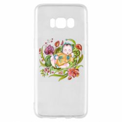 Чехол для Samsung S8 Baby and flowers