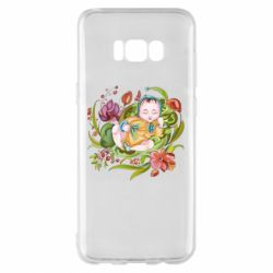 Чехол для Samsung S8+ Baby and flowers