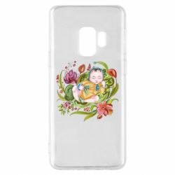 Чехол для Samsung S9 Baby and flowers