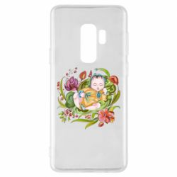 Чехол для Samsung S9+ Baby and flowers