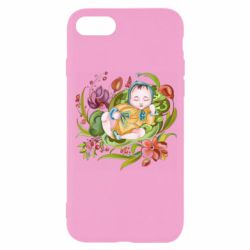 Чехол для iPhone 8 Baby and flowers