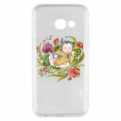Чехол для Samsung A3 2017 Baby and flowers