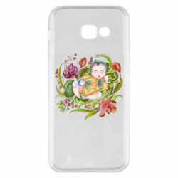 Чехол для Samsung A5 2017 Baby and flowers