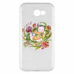 Чехол для Samsung A7 2017 Baby and flowers