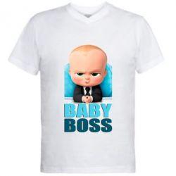 Чоловіча футболка з V-подібним вирізом Baby Boss 1