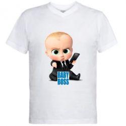 Чоловіча футболка з V-подібним вирізом Baby Boss 2