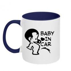 Кружка двухцветная Baby in car