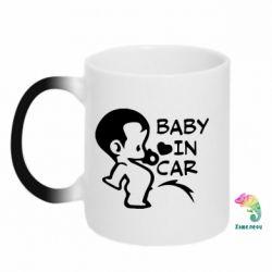 Кружка-хамелеон Baby in car