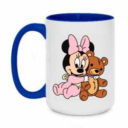 Кружка двухцветная 420ml Baby minnie and bear