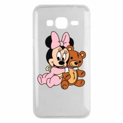 Чохол для Samsung J3 2016 Baby minnie and bear