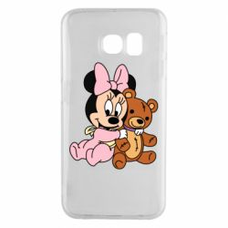 Чохол для Samsung S6 EDGE Baby minnie and bear