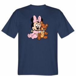 Мужская футболка Baby minnie and bear