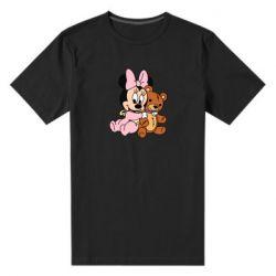 Мужская стрейчевая футболка Baby minnie and bear