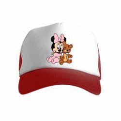Детская кепка-тракер Baby minnie and bear