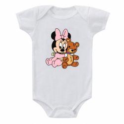 Детский бодик Baby minnie and bear
