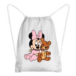 Рюкзак-мешок Baby minnie and bear