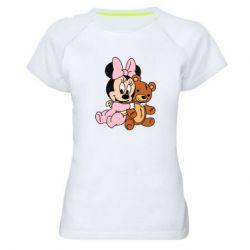 Женская спортивная футболка Baby minnie and bear