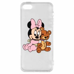 Чохол для iphone 5/5S/SE Baby minnie and bear