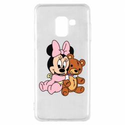 Чохол для Samsung A8 2018 Baby minnie and bear