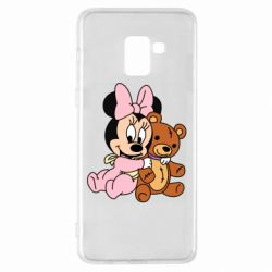 Чохол для Samsung A8+ 2018 Baby minnie and bear