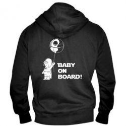 Мужская толстовка на молнии Baby on board 1