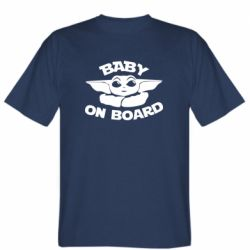 Мужская футболка Baby on board yoda