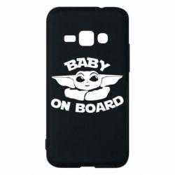 Чехол для Samsung J1 2016 Baby on board yoda