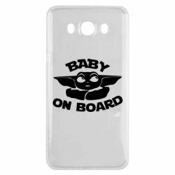 Чехол для Samsung J7 2016 Baby on board yoda