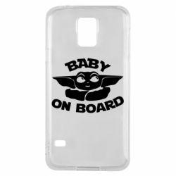 Чехол для Samsung S5 Baby on board yoda