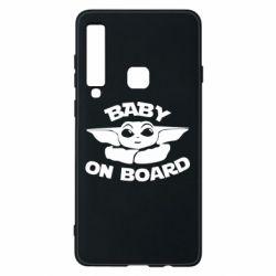 Чехол для Samsung A9 2018 Baby on board yoda