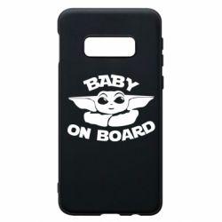 Чехол для Samsung S10e Baby on board yoda