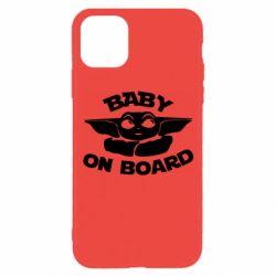 Чехол для iPhone 11 Pro Baby on board yoda