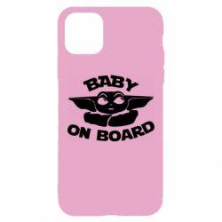 Чехол для iPhone 11 Pro Max Baby on board yoda