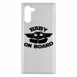 Чехол для Samsung Note 10 Baby on board yoda