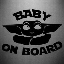 Наклейка Baby on board yoda