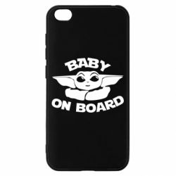 Чехол для Xiaomi Redmi Go Baby on board yoda