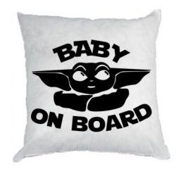 Подушка Baby on board yoda