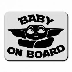 Коврик для мыши Baby on board yoda