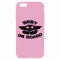Чехол для iPhone 6 Plus/6S Plus Baby on board yoda