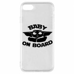 Чехол для iPhone 7 Baby on board yoda