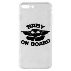 Чехол для iPhone 7 Plus Baby on board yoda