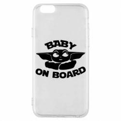 Чехол для iPhone 6/6S Baby on board yoda