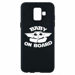 Чехол для Samsung A6 2018 Baby on board yoda