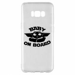 Чехол для Samsung S8+ Baby on board yoda