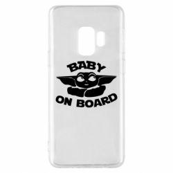 Чехол для Samsung S9 Baby on board yoda