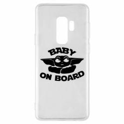Чехол для Samsung S9+ Baby on board yoda