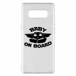 Чехол для Samsung Note 8 Baby on board yoda