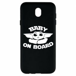 Чехол для Samsung J7 2017 Baby on board yoda