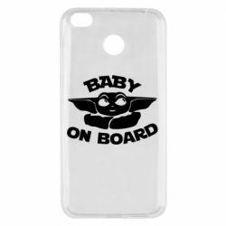 Чехол для Xiaomi Redmi 4x Baby on board yoda